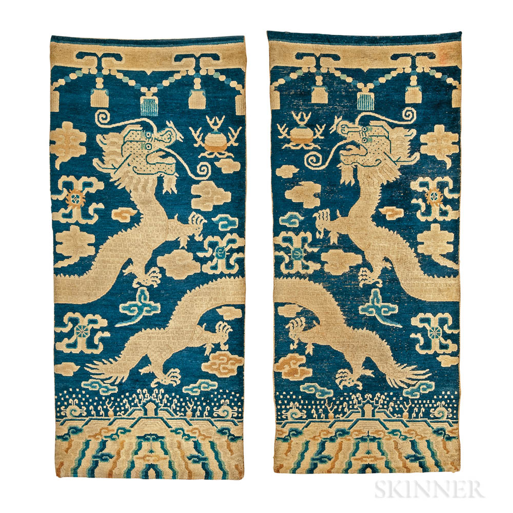 Pair of Ningxia Pillar Rugs