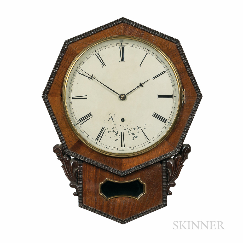 Jerome Ripple-front Drop Octagon Wall Clock