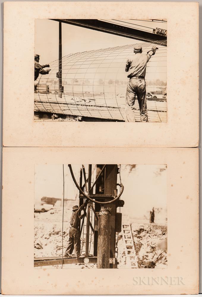 Samuel Kravitt (American, 1913-2000)    Fifteen Original Photographs Taken During the Construction of the 1939 World's Fair.