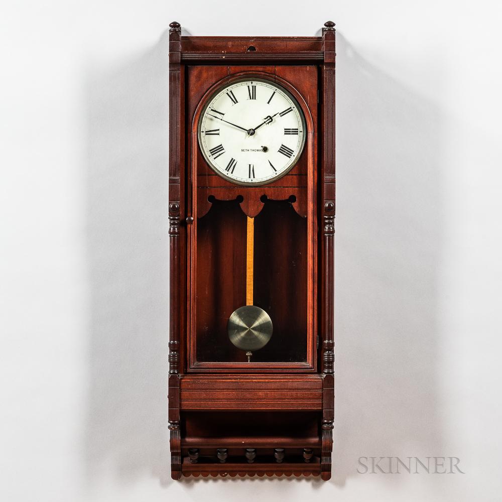 """Seth Thomas Cherry """"Queen Anne"""" Wall Clock"""