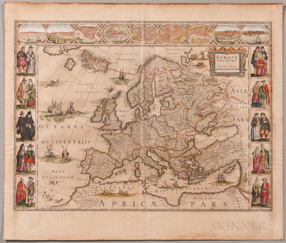 Europe. Willem Blaeu (1571-1638) Europa Recens Descripta a Guilielmo Blaeuw.