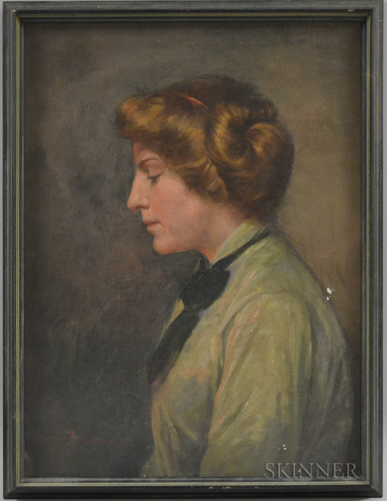 Jennie Augusta Brownscombe (American, 1850-1936)      Portrait of Ethel Whitmore Harway (1886-1973)