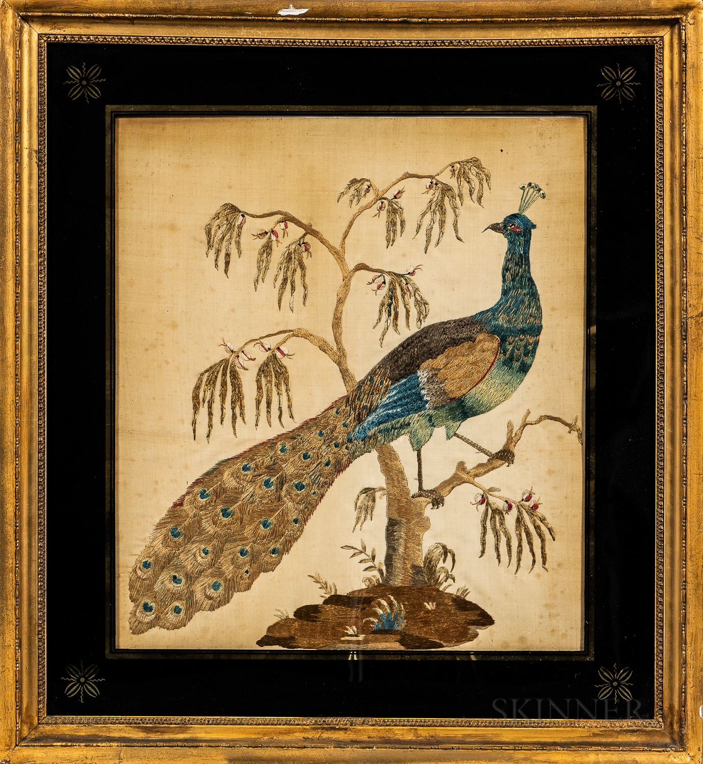 Two Needlepoint Pictures of Birds