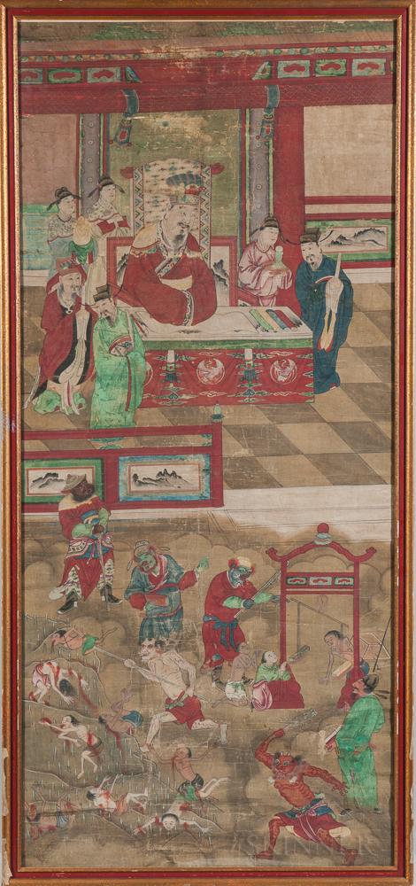 Shiwangtu  , Ten Kings of Hell Painting