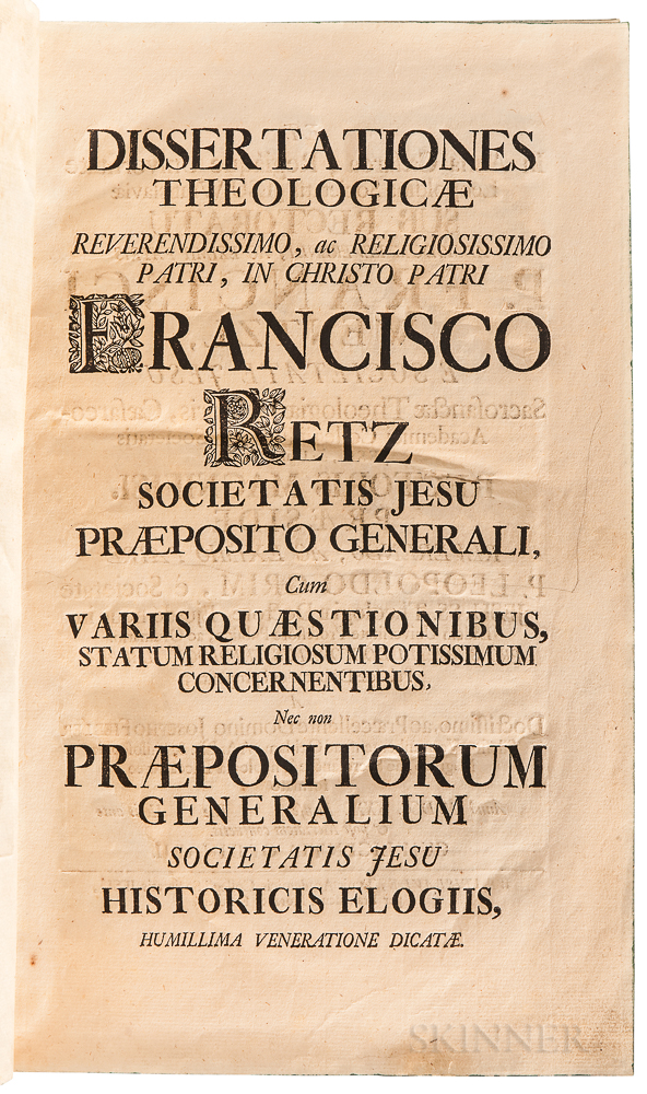 Retz, Franz (1673-1750), Leopold Grim (1688-1759), and Joseph Wentzl (1676-1755) Dissertationes Theologicae.