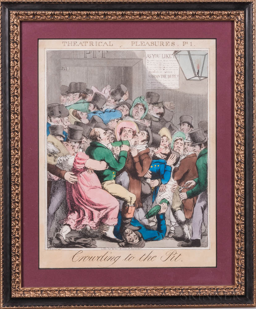 Caricatures, Six Framed Examples.