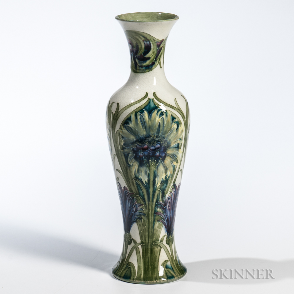 Moorcroft Pottery Cornflower Design Vase