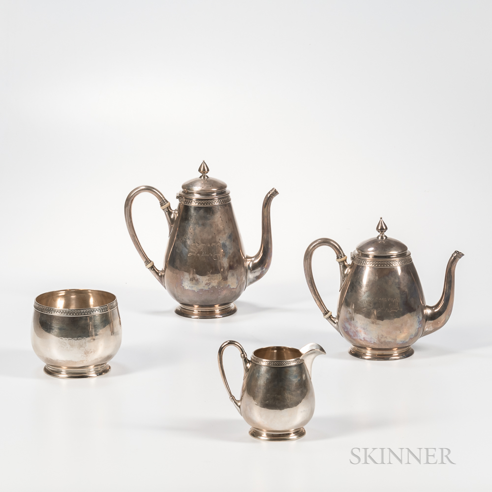 Four-piece Ball, Black & Co. Sterling Silver Tea and Coffee Service