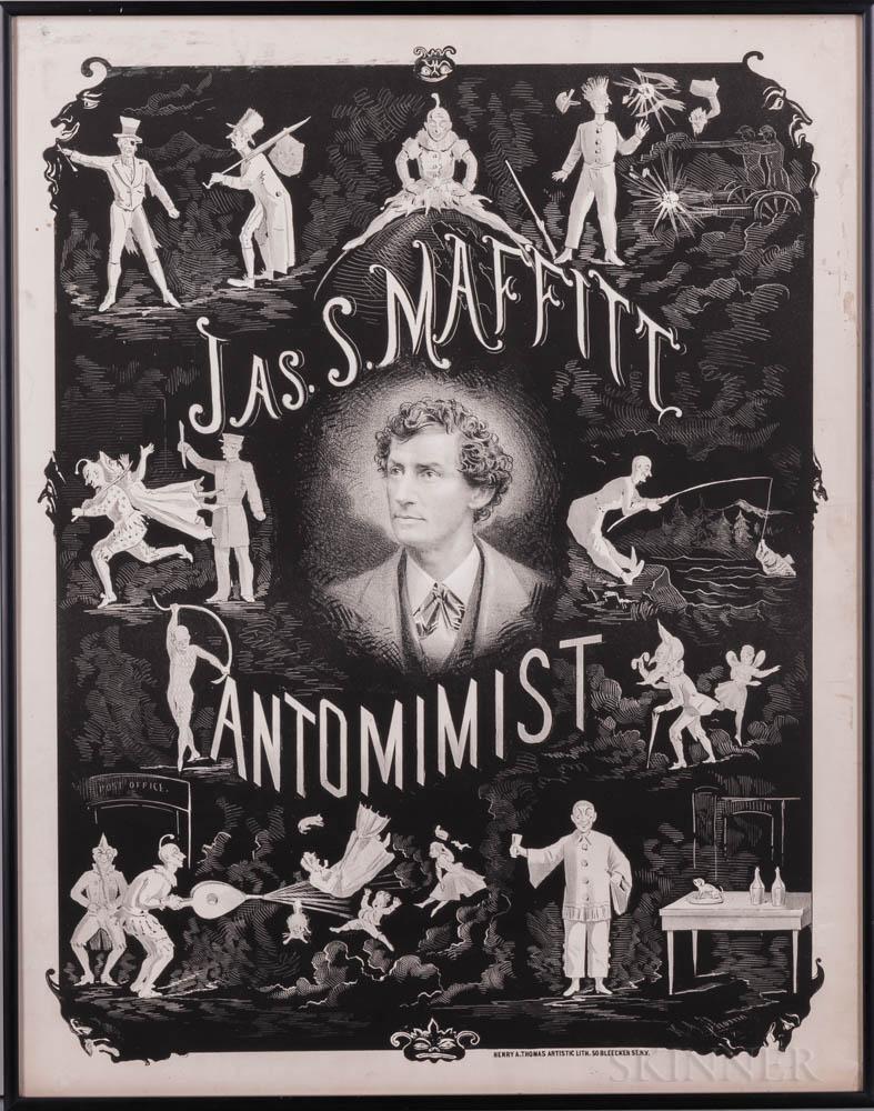 Thomas, Henry Atwell (1834-1904) Jas. S. Maffitt Pantomimist.
