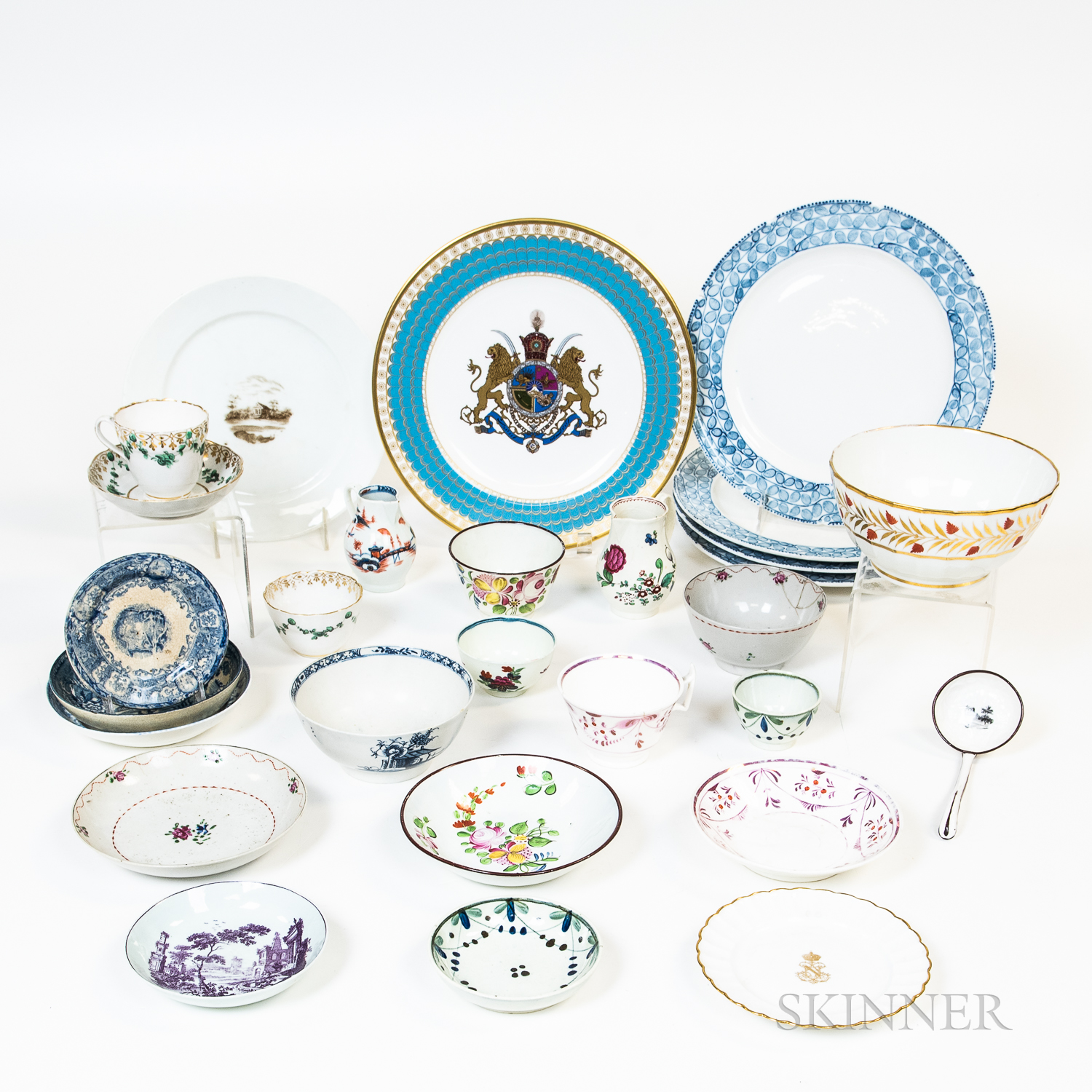 Group of English and Continental Porcelain Tableware