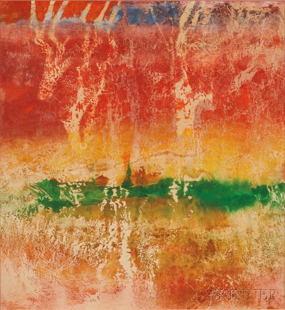 Thomas Yeo (Singaporean, b. 1936)      Two Works: Lost Village