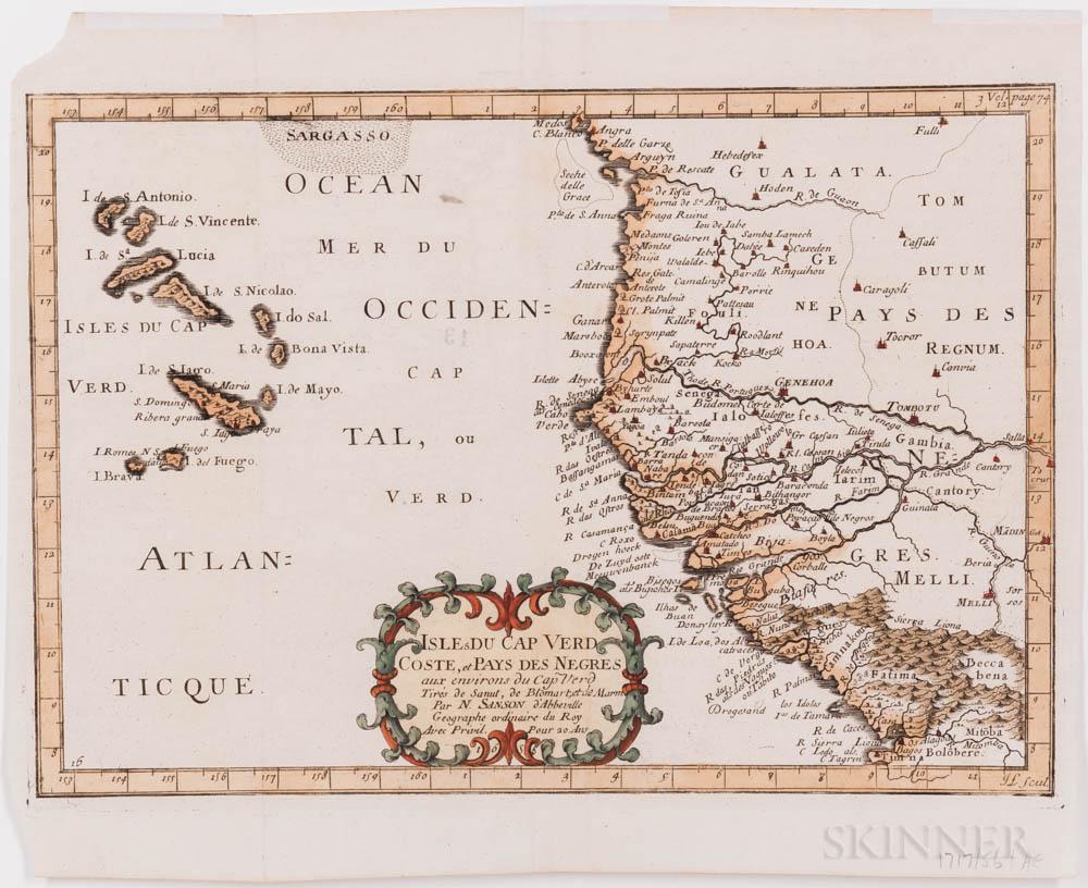 Cape Verde. Seven Engraved Maps, c. 1660-1780.