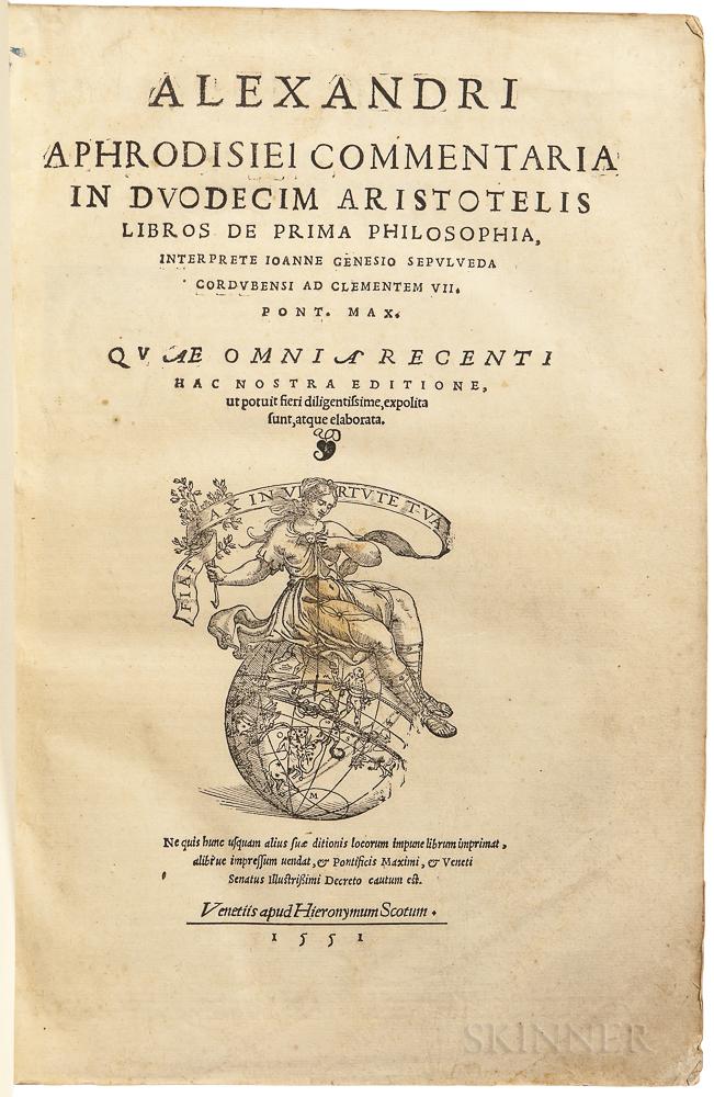 Alexander of Aphrodisias (fl. AD 200) Commentaria in Duodecim Aristotelis Libros de Prima Philosophia.