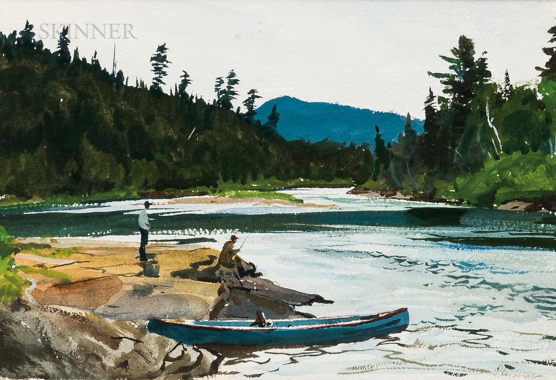 Ogden Minton Pleissner (American, 1905-1983)      MacDonald's Pool - St. John River