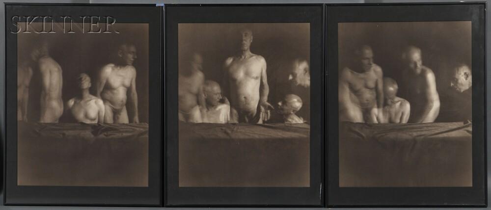 Jan van Leeuwen (Dutch, b. 1932)      Triptych #2, The Last Supper