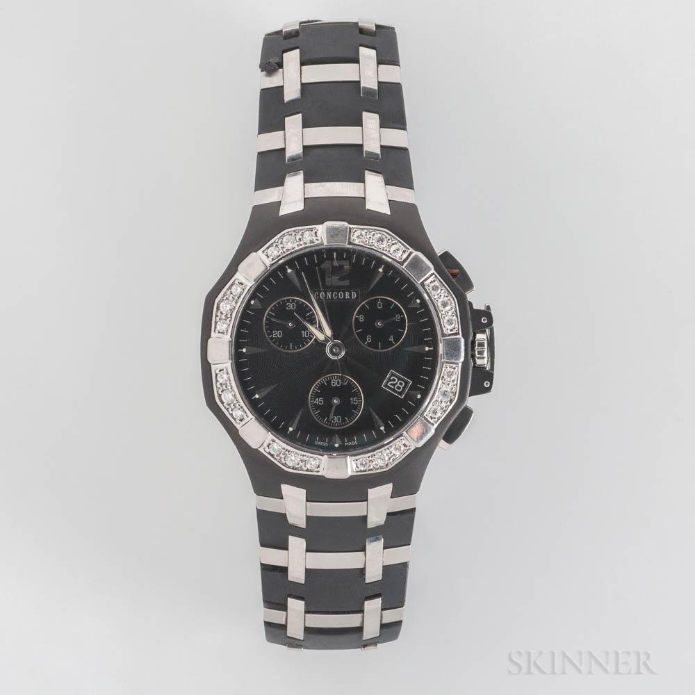 "Concord ""Saratoga"" Quartz Chronograph Wristwatch"