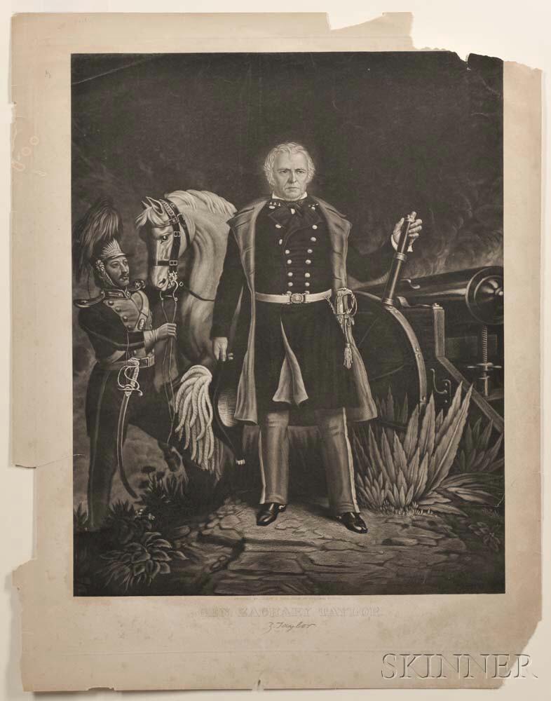Taylor, Zachary (1784-1850) Full-length Portrait Engraving.