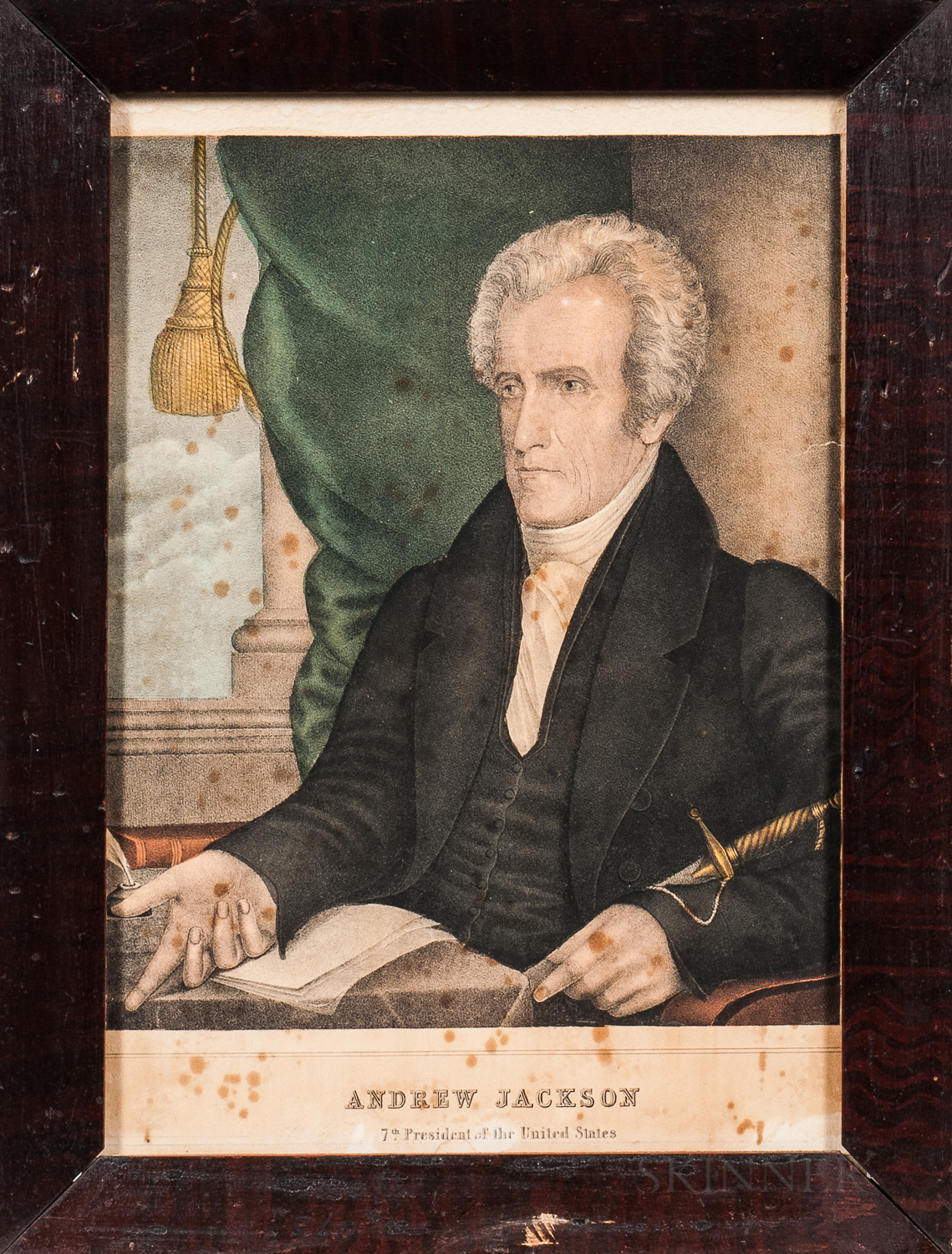 Collection of Small Folio Lithographs of the First Thirteen Presidents