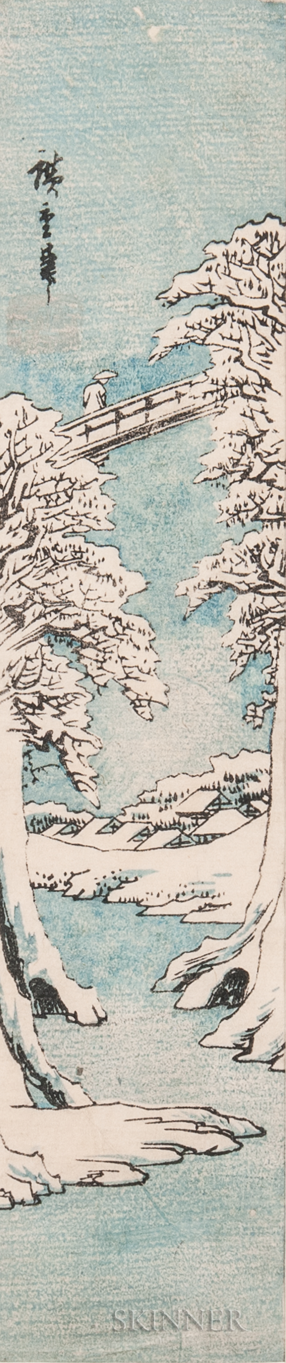 Utagawa Hiroshige (1797-1858), The Monkey Bridge in Winter