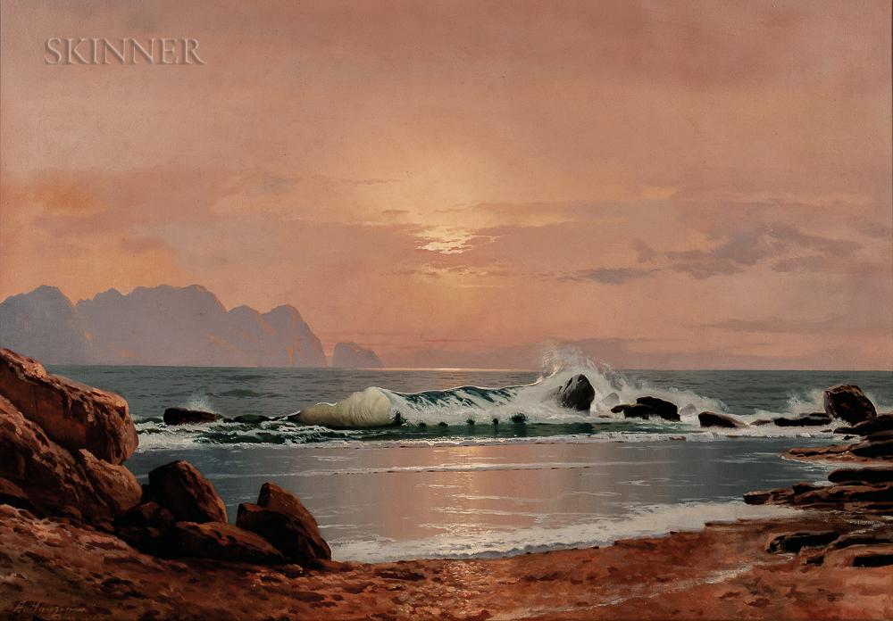 Aleksei Vasilievich Hanzen (Russian, 1876-1937)      Sea at Sunset