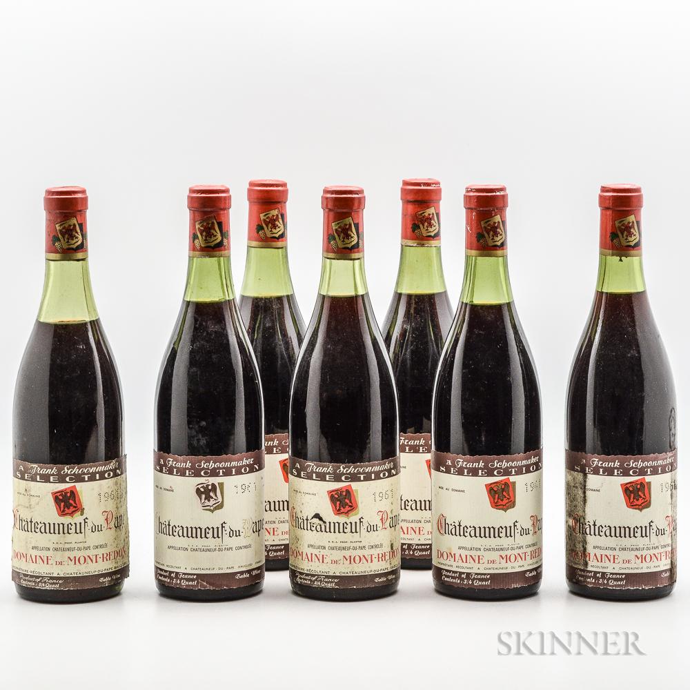Domaine de Mont Redon Chateauneuf du Pape 1961, 7 bottles