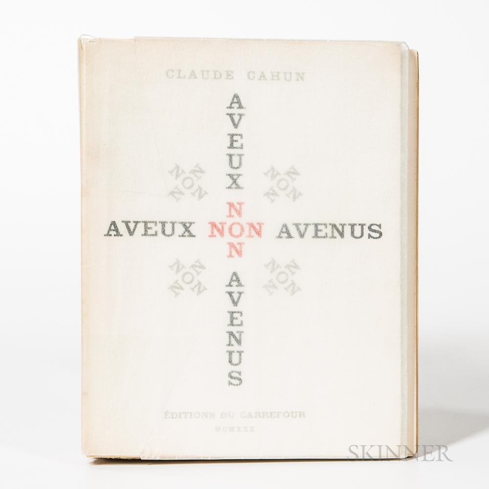 Cahun, Claude (1894-1954) A Veux Non Avenus.