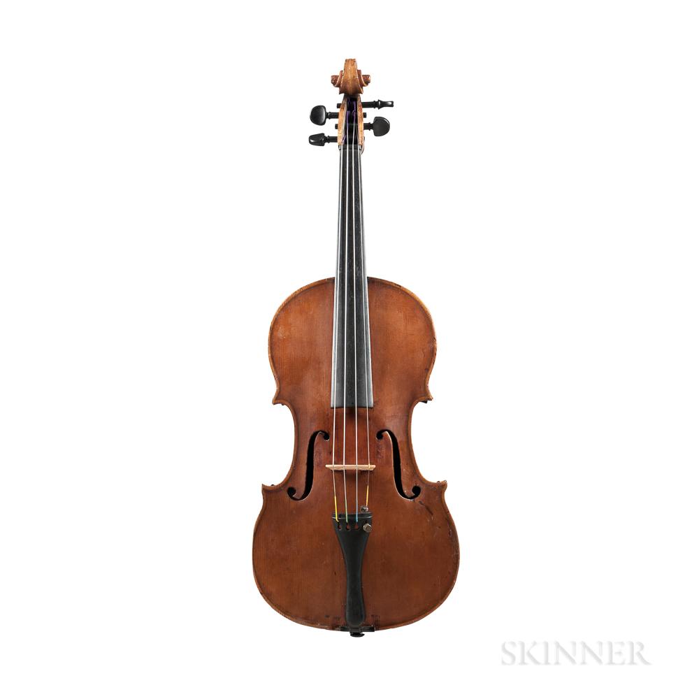 French Experimental Violin, Joseph Nicolas, Mirecourt, 1851