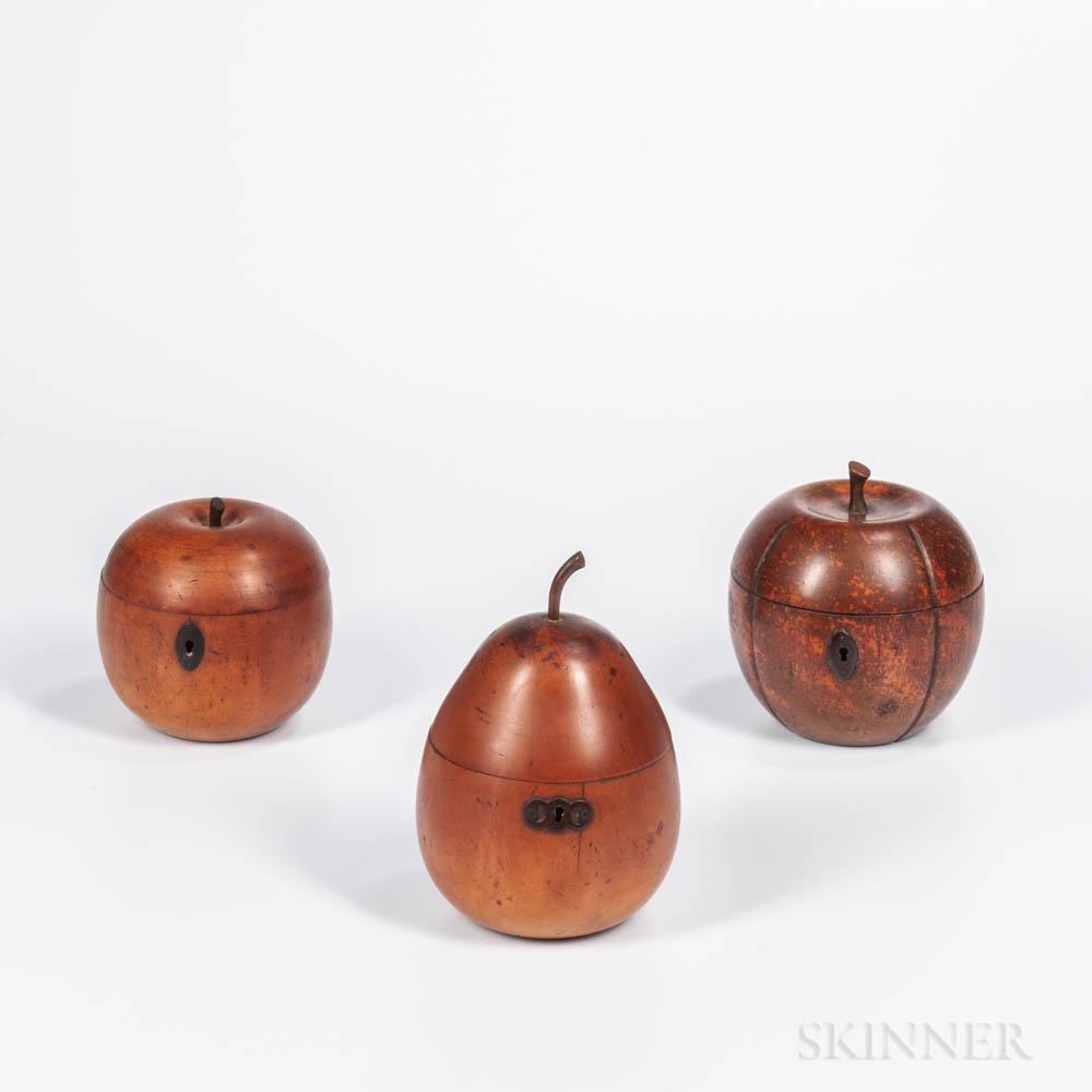 Three Fruit-form Tea Caddies