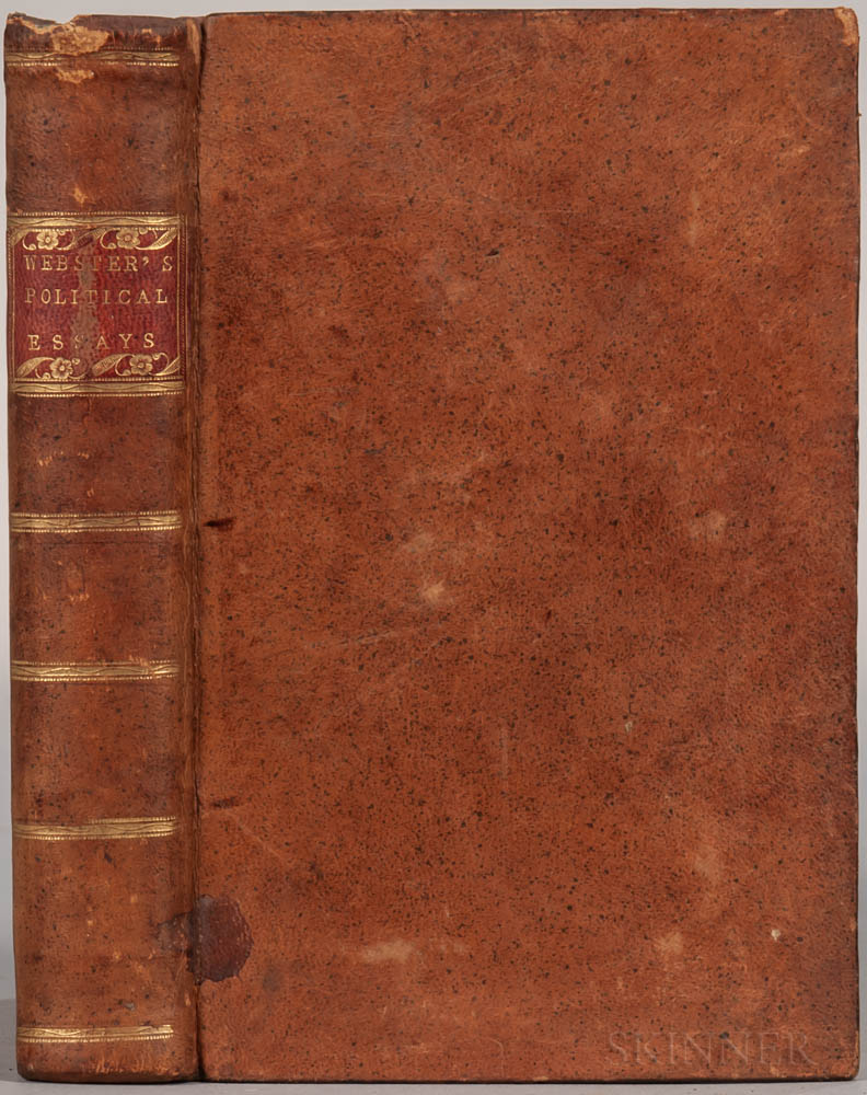 Webster, Pelatiah (1726-1795) Political Essays on the Nature and Operation of Money, Public Finances, and Other Subjects: Published dur