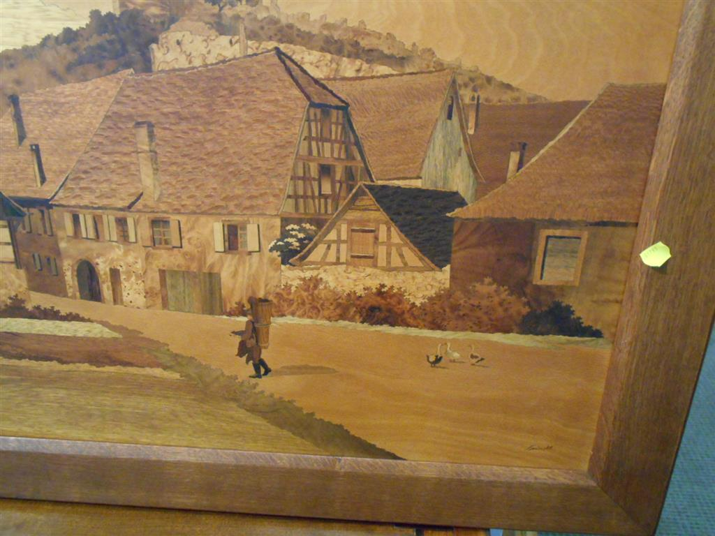 Marquetry Picture of an English Village