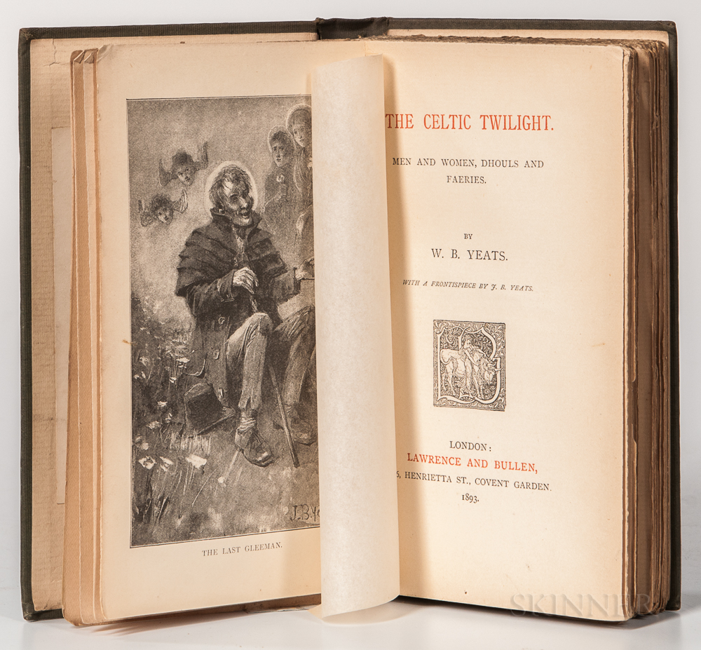 Yeats, William Butler (1865-1939) Illus. Jack B. Yeats (1871-1957) The Celtic Twilight. Men and Women, Dhouls and Faeries.