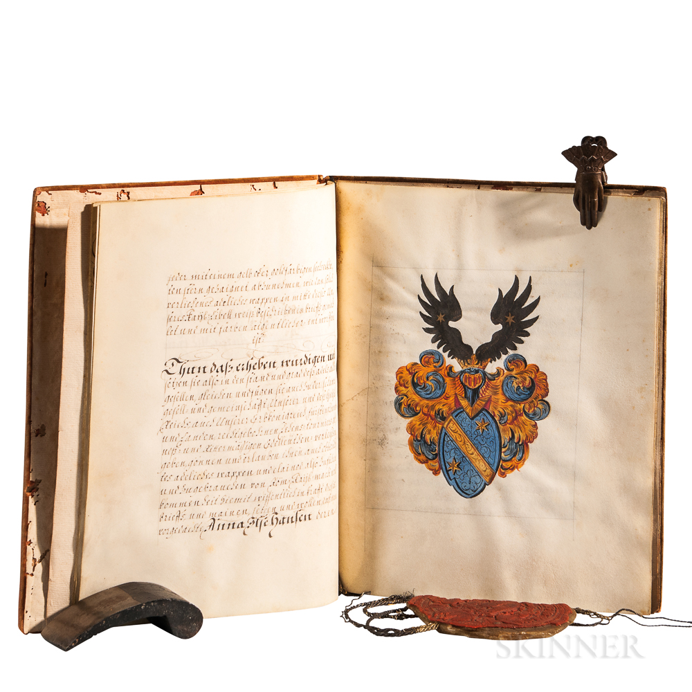 Leopold I, Holy Roman Emperor (1640-1705) Signed Patent of Nobility, 5 May 1702.