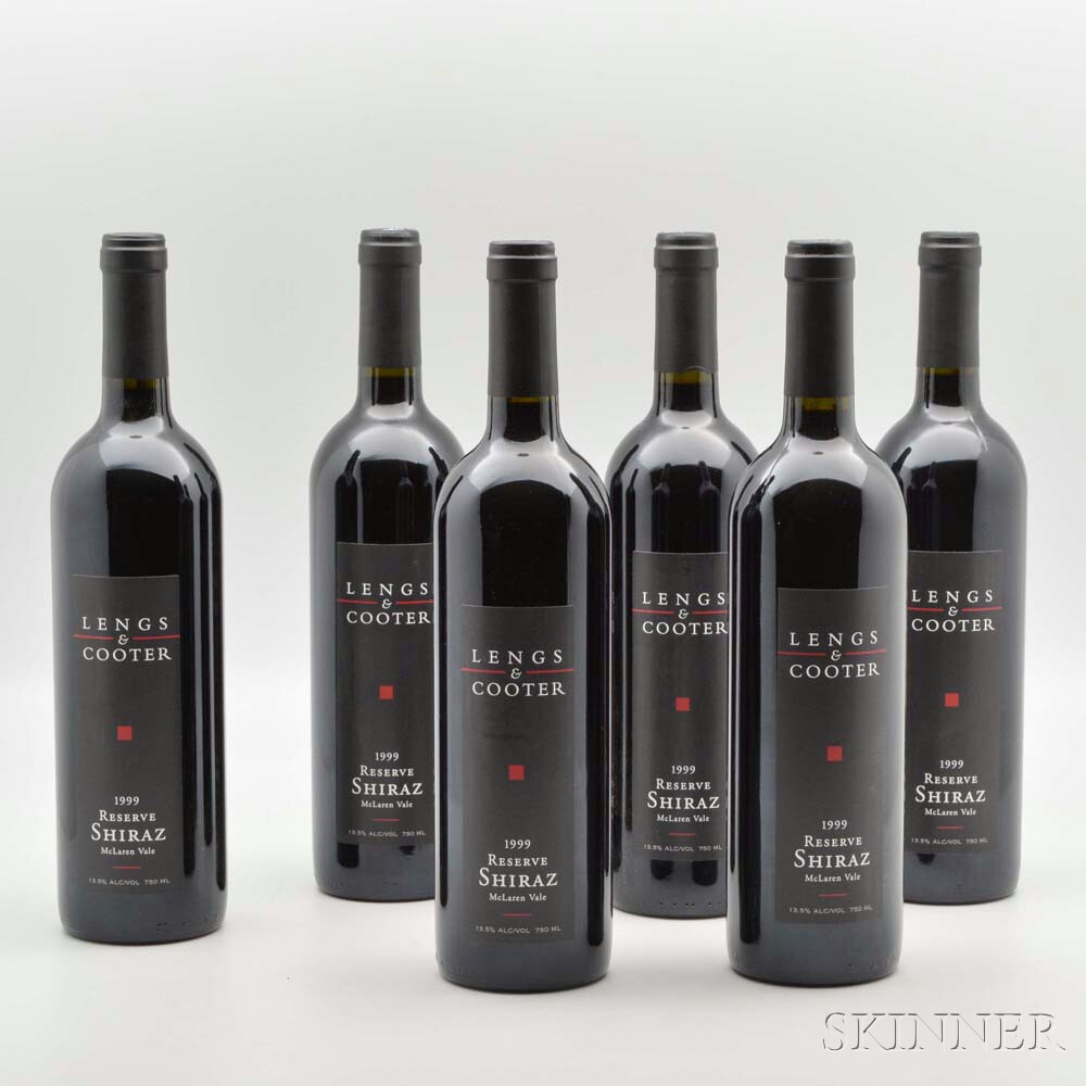 Lengs and Cooter Shiraz Reserve 1999, 6 bottles