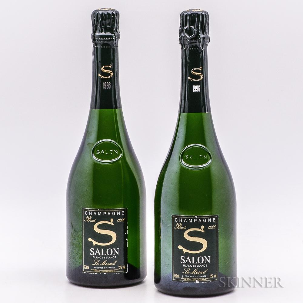 Salon Blanc de Blancs 1996, 2 bottles