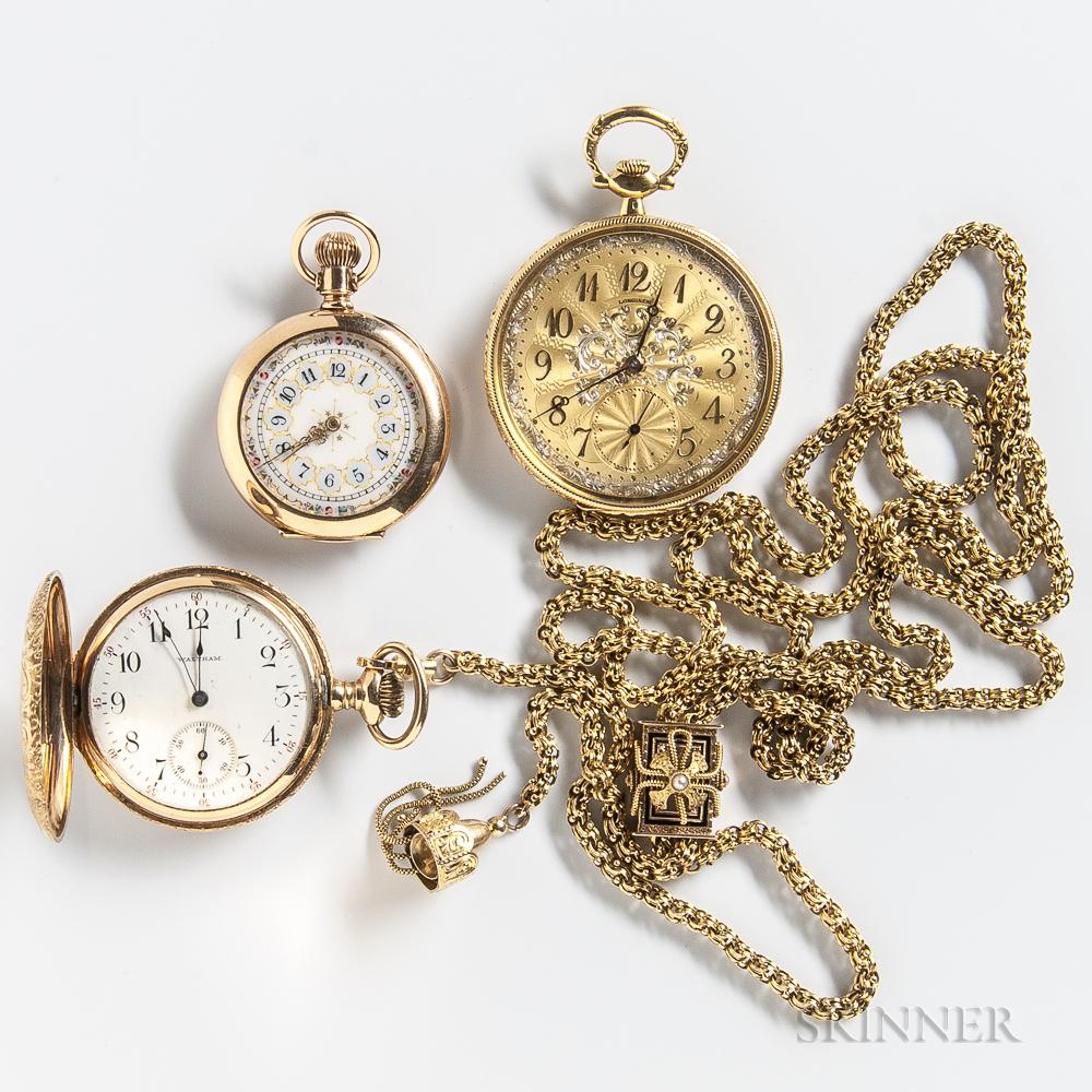 Three Gold Pocket Watches