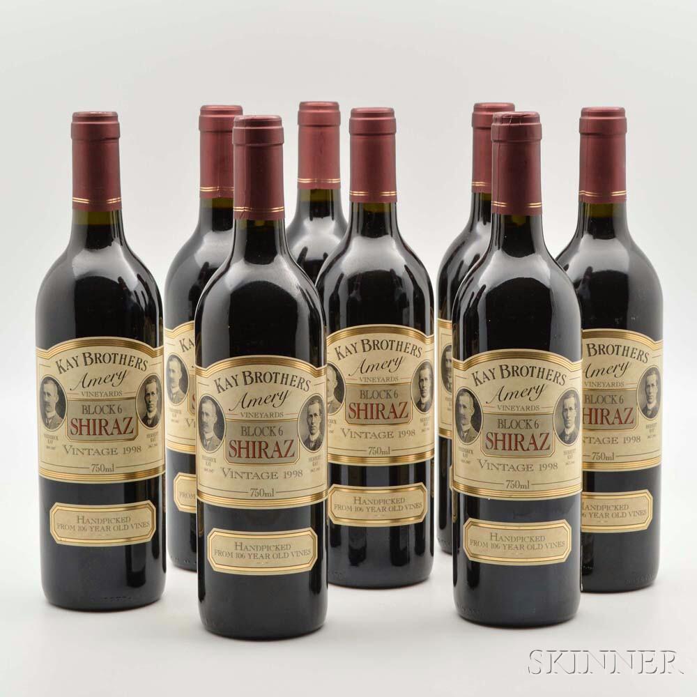 Kay Brothers Amery Block 6 Shiraz 1998, 8 bottles