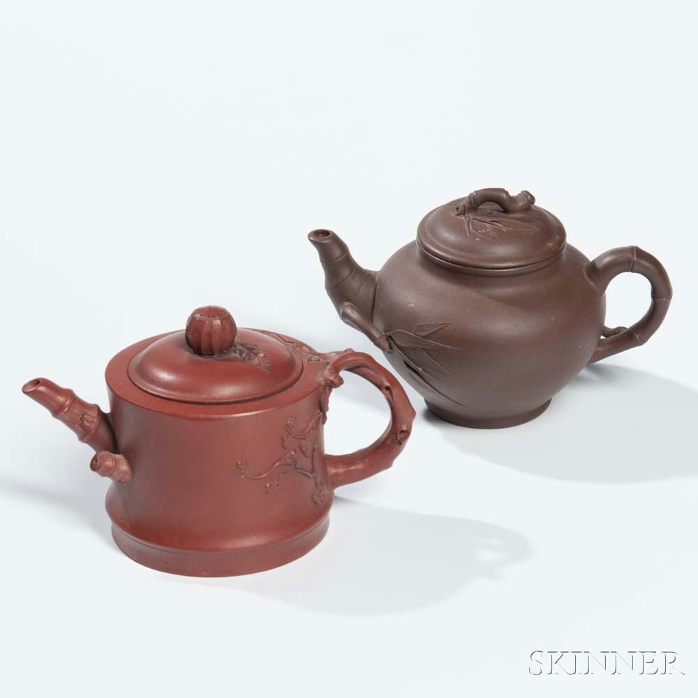 Pair of Yixing Teapots
