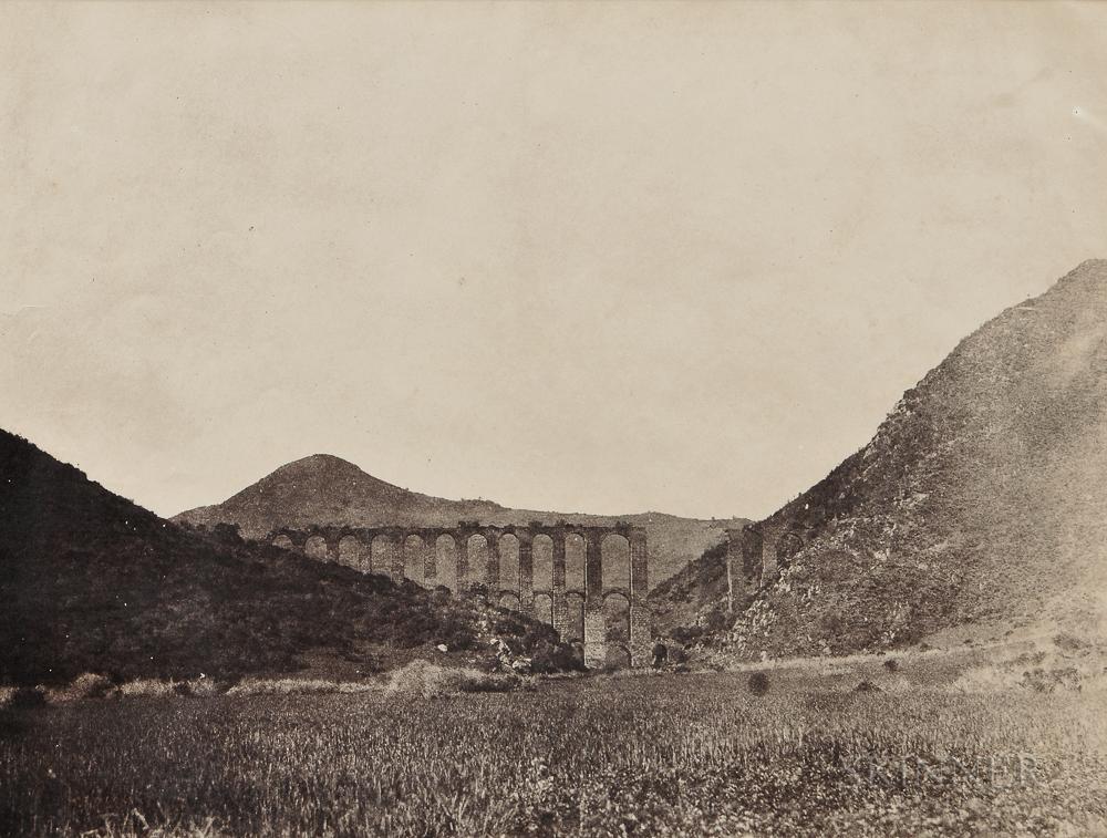 John Beasley Greene (American, 1832-1856)      Aqueduct of Cherchell, Algeria