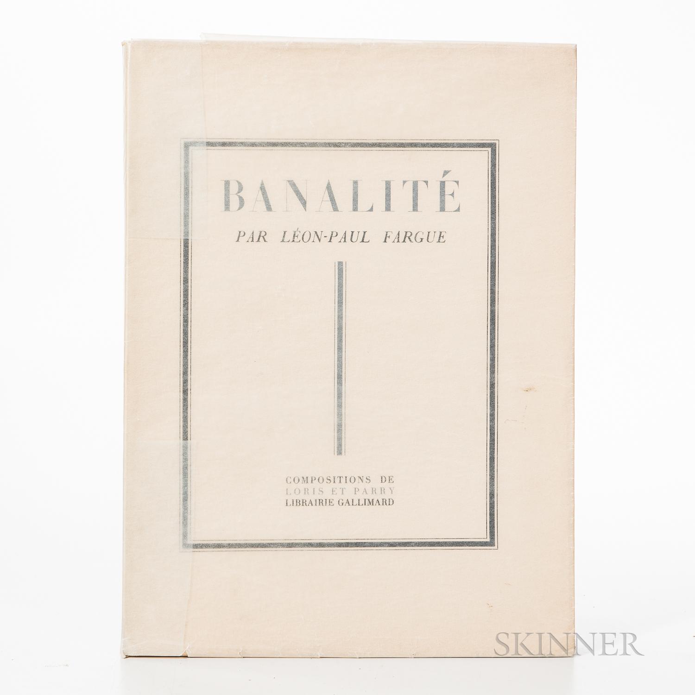 Parry, Roger (1905-1977) and Leon-Paul Fargue (1876-1947) Banalite Illustre de Reogrammes et Recherches d'Objects de Loris et Parry.
