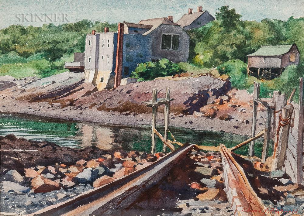 Edmond James Fitzgerald (American, 1912-1989)      Perkins Cove, Ogunquit
