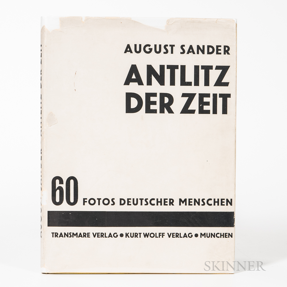 Sander, August (1876-1964) Antlitz der Zeit, 60 Fotos Deutscher Menschen [Face of Our Time].
