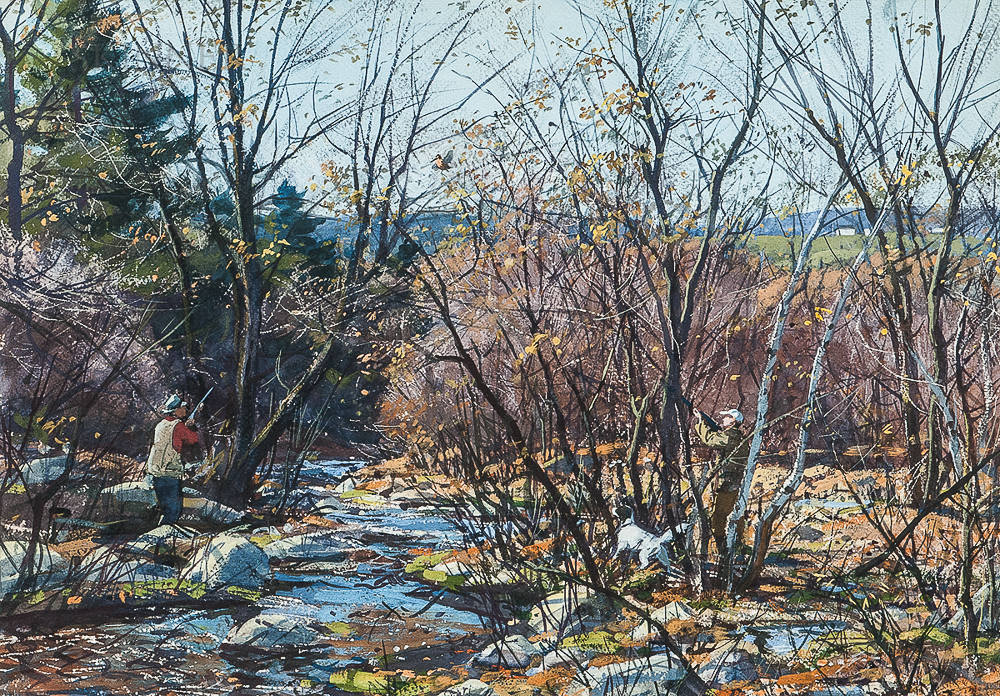 Aiden Lassell Ripley (American, 1896-1969)      Hunting by a Stream
