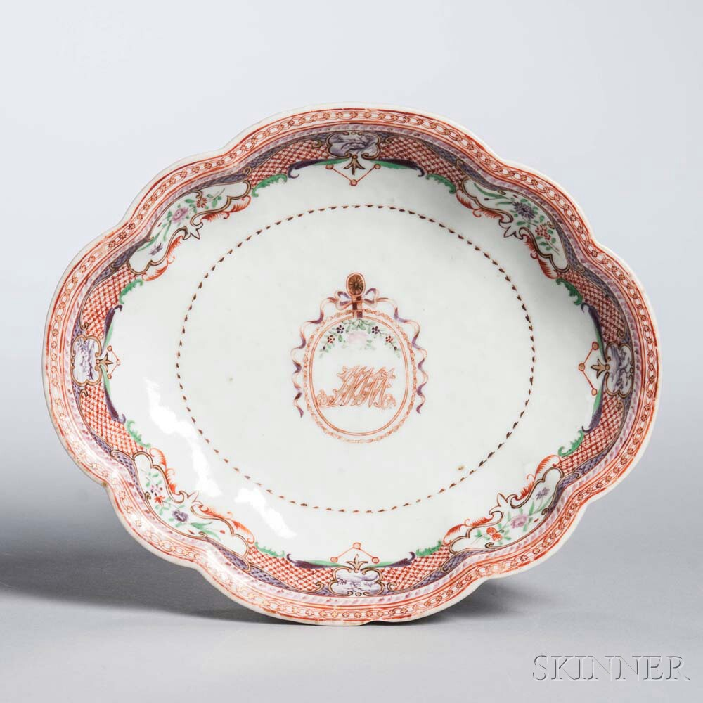 Shaped Export Porcelain Dish