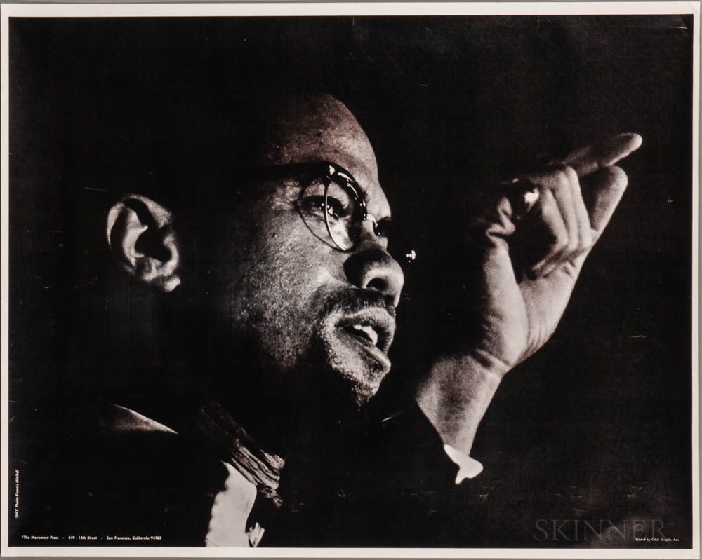 Malcolm X (1925-1965) Poster.