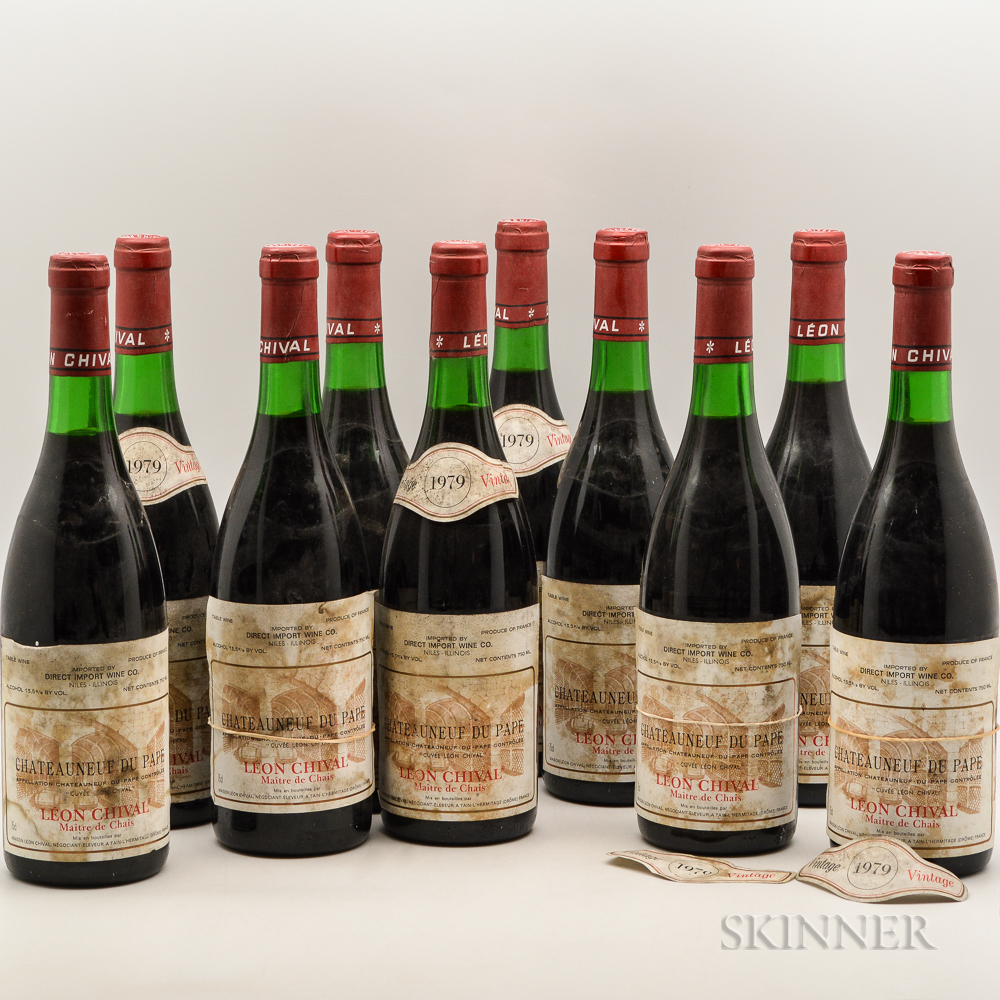 Leon Chival Chateauneuf du Pape 1979, 10 bottles