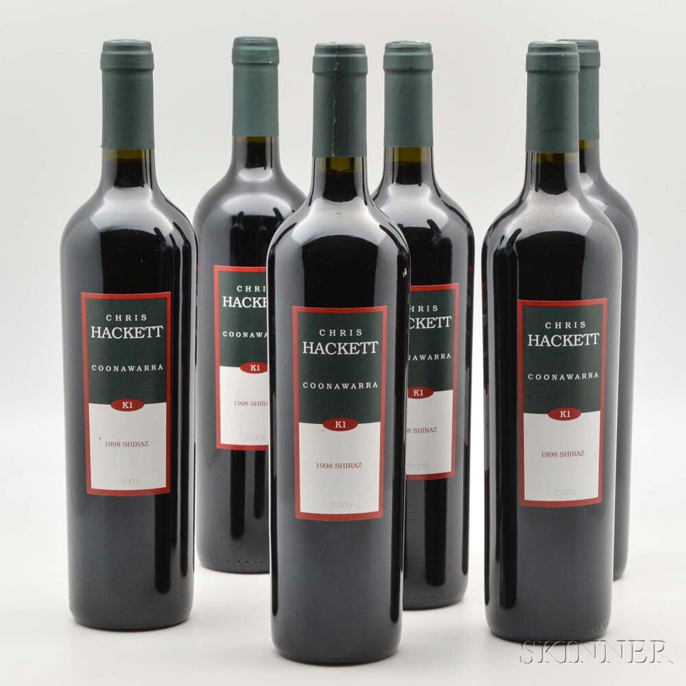Chris Hackett K1 Shiraz 1998, 6 bottles