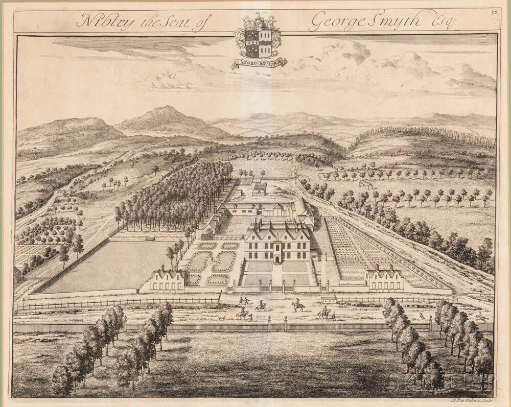 Kip, Johannes (1653-1722) Nibley, the Seat of George Smyth Esq[uire]