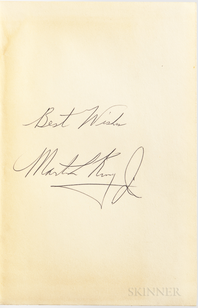 King Jr., Martin Luther (1929-1968) Stride Toward Freedom  , Signed Copy.