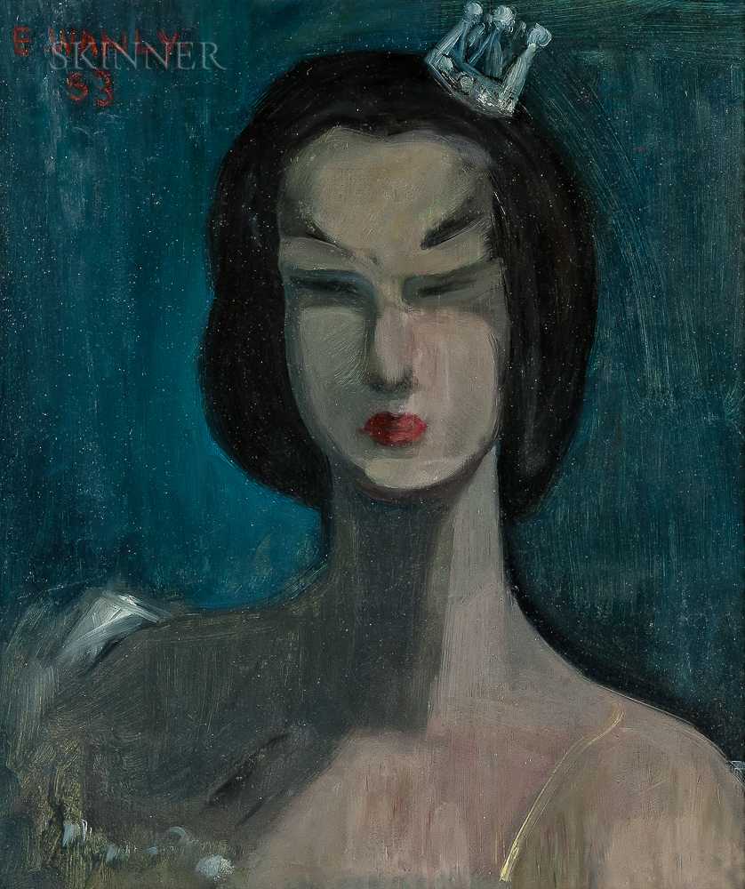 Adham Wanly (Egyptian, 1908-1959)      Portrait of a Dancer