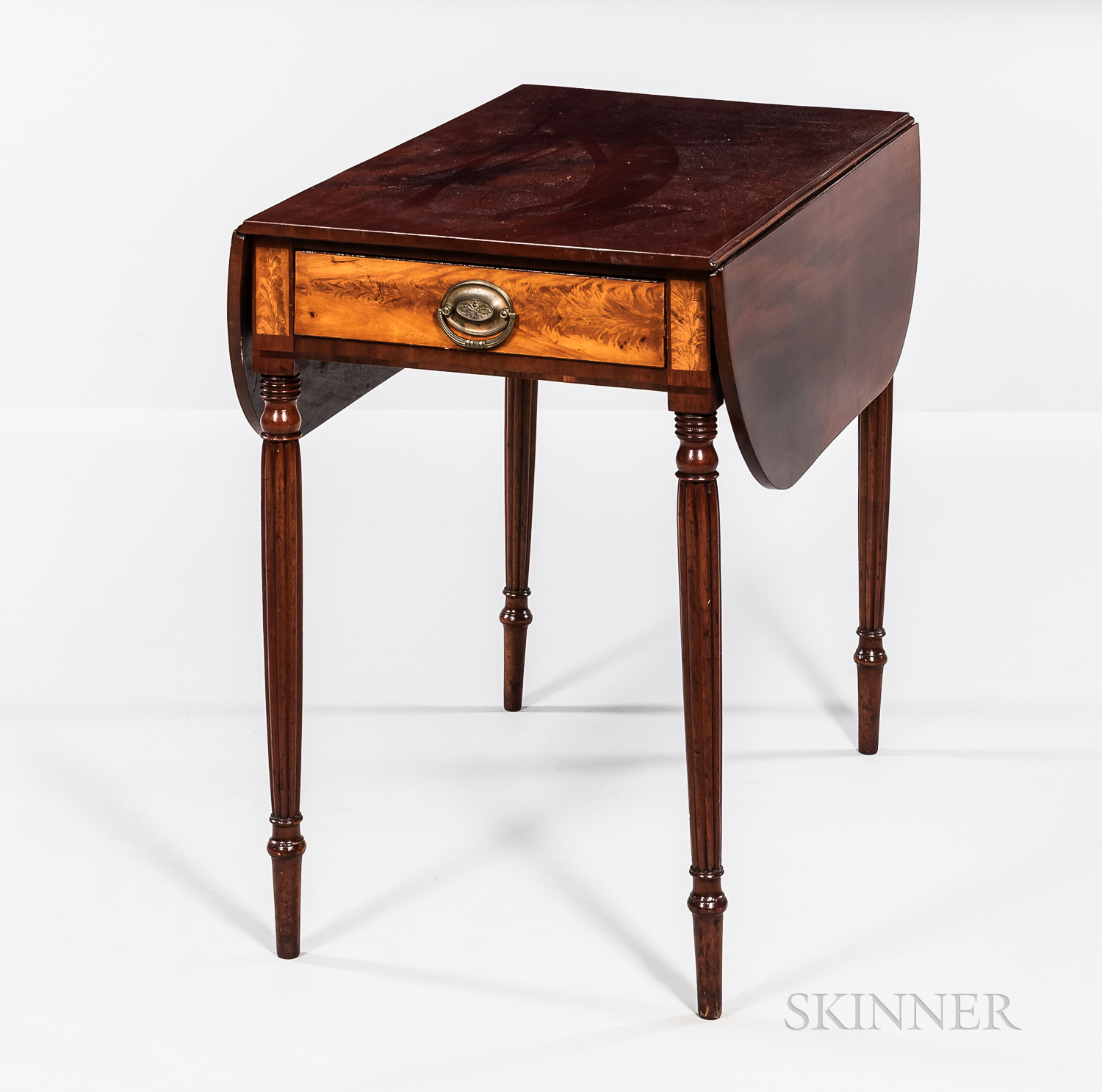 Federal Carved and Inlaid Mahogany Pembroke Table